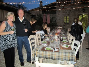Dinner at the Villa